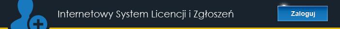 Baner Internetowy System Licencji i Zgłoszeń