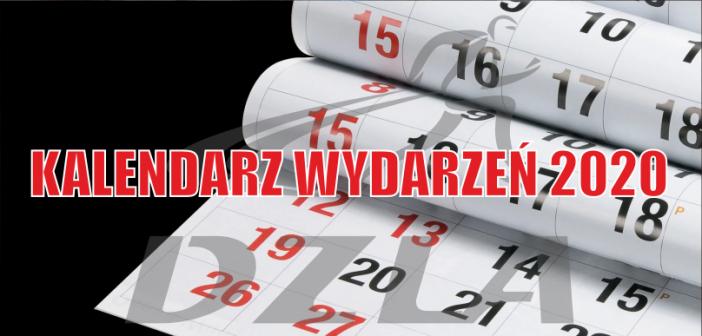 Kalendarz wydarzeń na rok 2020