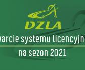 Otwarcie systemu licencyjnego na sezon 2021